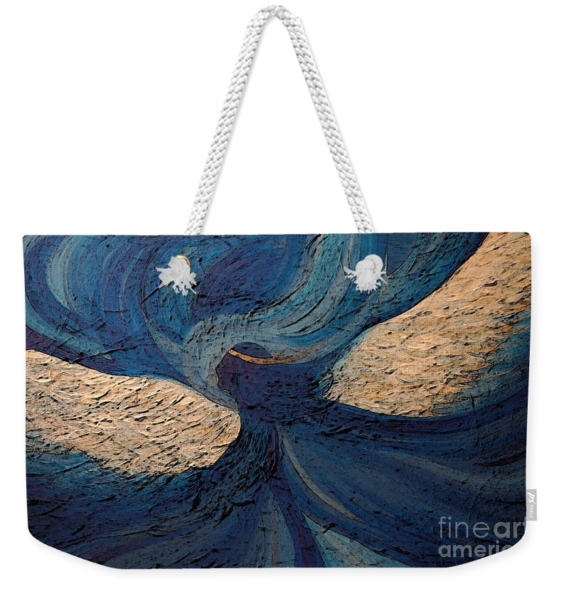 First Star Art Weekender Tote Bag featuring the painting Guardian Angel By Jrr by First Star Art