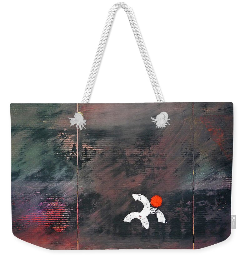 White Man Weekender Tote Bag featuring the painting Gubba Unna by Charles Stuart