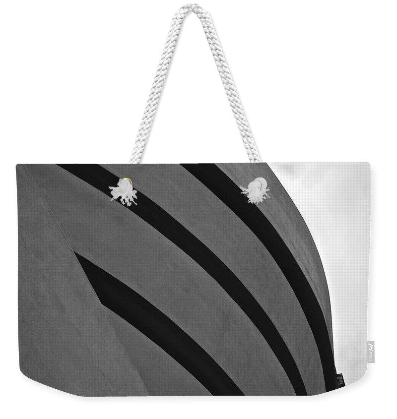 Guggenheim Art Museum Weekender Tote Bag featuring the photograph Guggenheim Exterior by Eric Tressler
