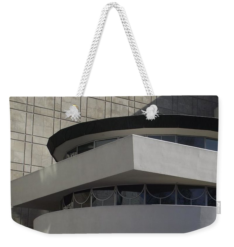 Frank Lloyd Wright Architecture Weekender Tote Bag featuring the photograph Guggenheim by Michelle Welles