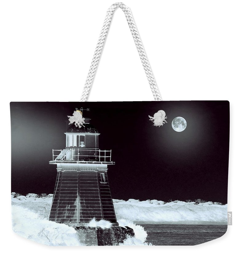 Landscapes Weekender Tote Bag featuring the photograph Guiding Lights by Holly Kempe
