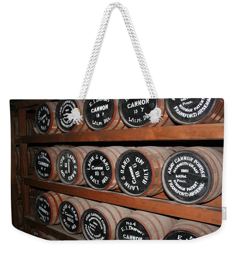 Gunpowder Weekender Tote Bag featuring the photograph Gunpowder Depot by Christiane Schulze Art And Photography