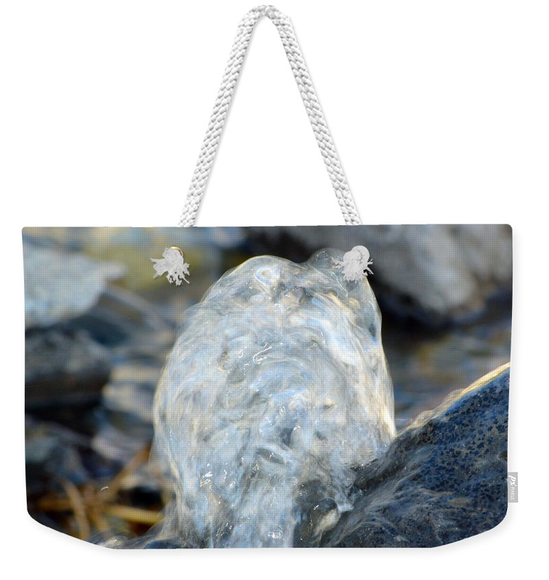 Water Weekender Tote Bag featuring the photograph Gurgling Water by Brent Dolliver