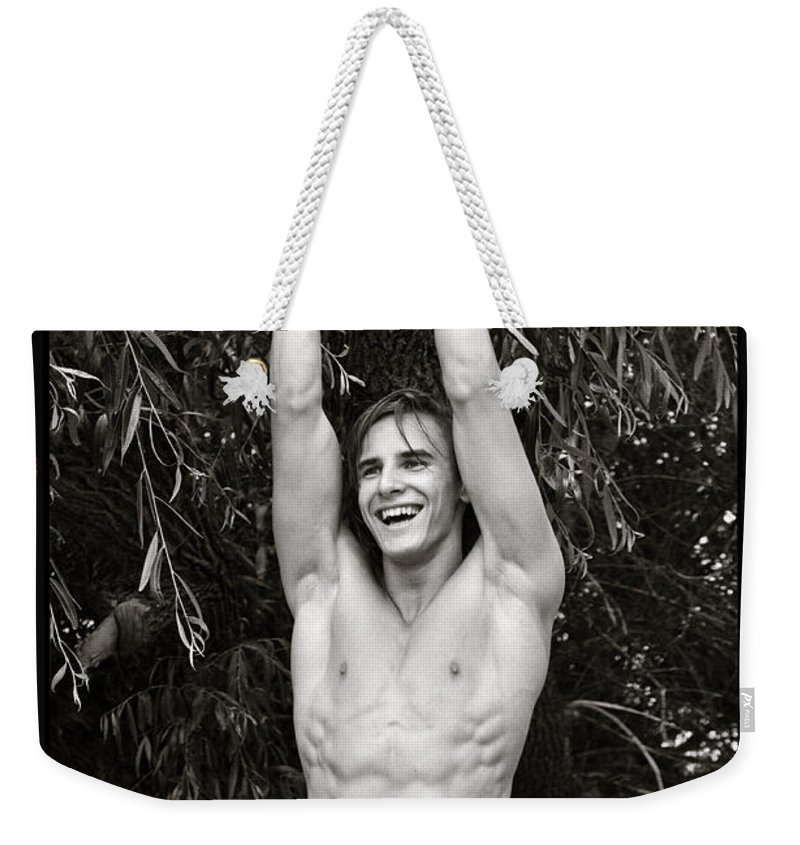 Male Nude Photographs Reliefs Weekender Tote Bag featuring the photograph guy by Alexander Annenkov