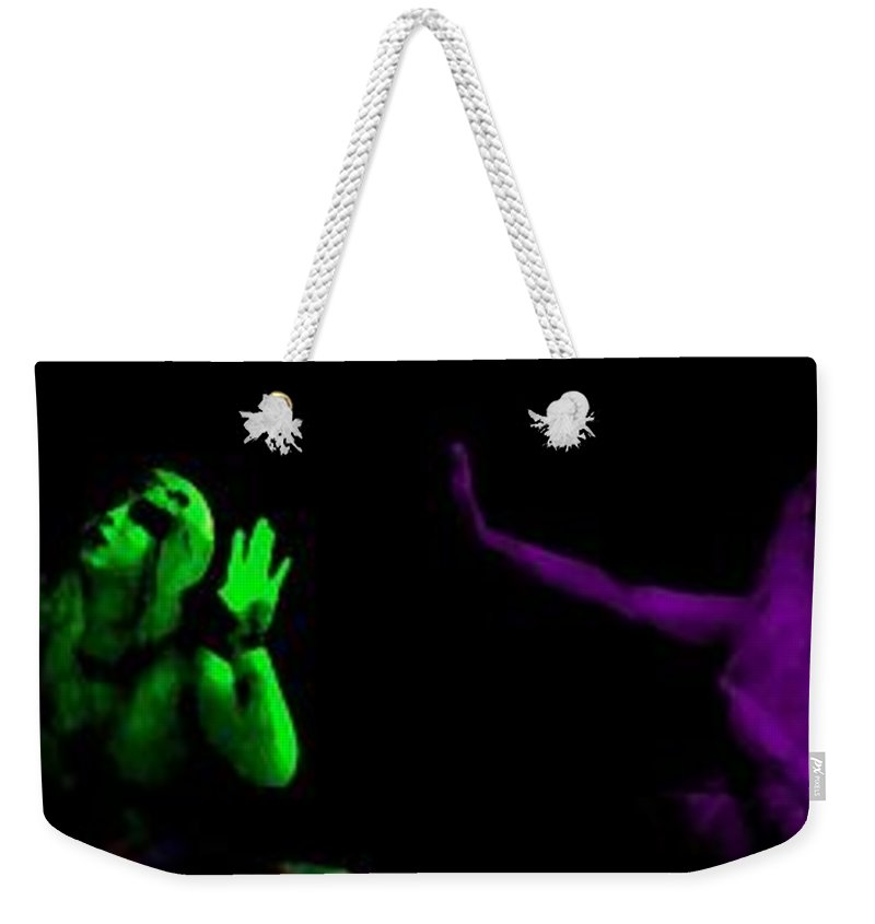 Blue Weekender Tote Bag featuring the photograph Gypsy Of The Strange by Jessica Shelton