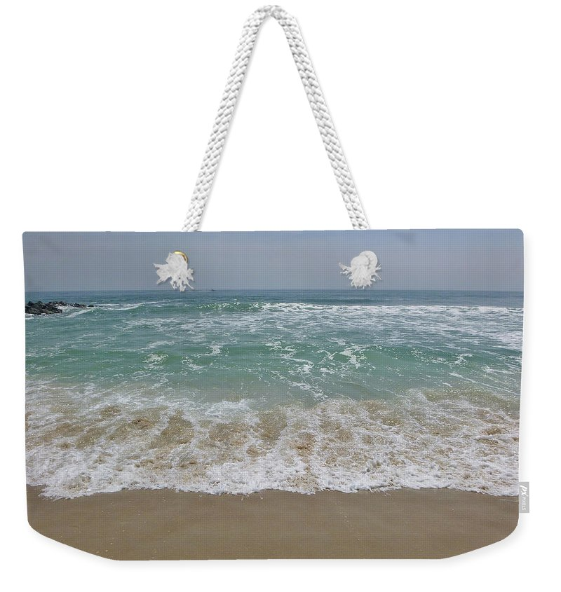 Seafoam Weekender Tote Bag featuring the photograph Haaah by Ellen Paull