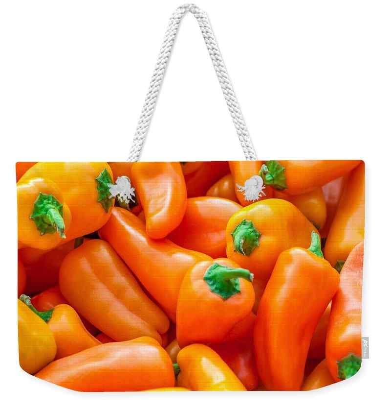 Habanero Weekender Tote Bag featuring the photograph Habanero Heaven by Todd Klassy