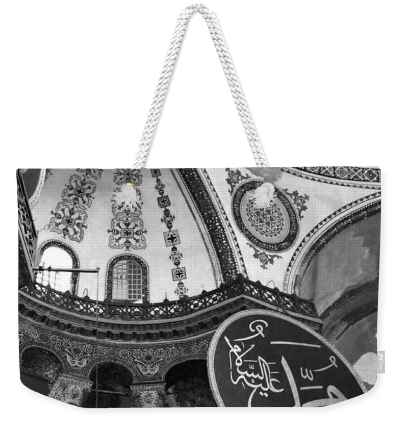Interior View Of The Hagia Sophia Weekender Tote Bag featuring the photograph Hagia Sophia Dome Detail by Christiane Schulze Art And Photography