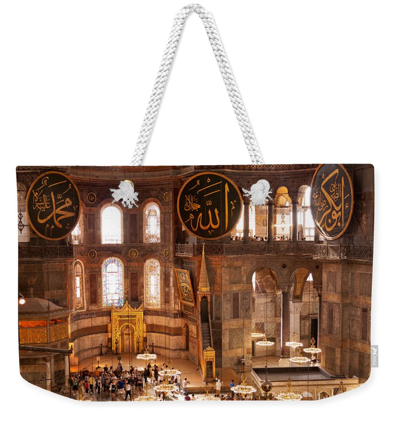 Istanbul Weekender Tote Bag featuring the photograph Hagia Sophia Interior 04 by Rick Piper Photography