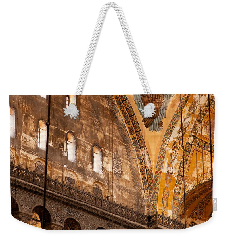 Istanbul Weekender Tote Bag featuring the photograph Hagia Sophia Interior 07 by Rick Piper Photography