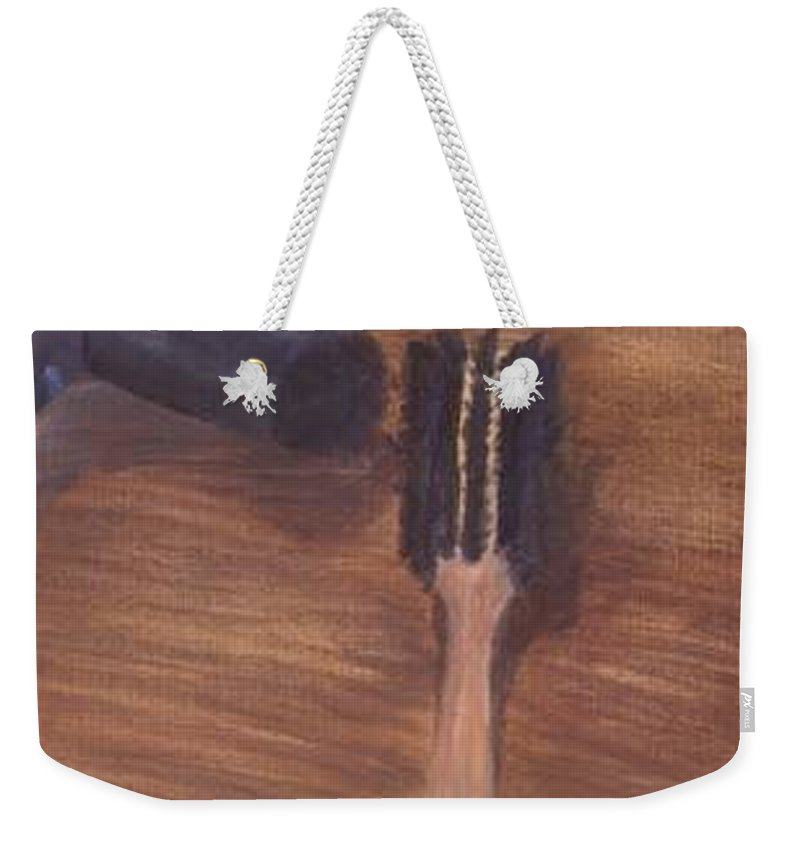 Brush Weekender Tote Bag featuring the painting Hair Day by Sheila Mashaw