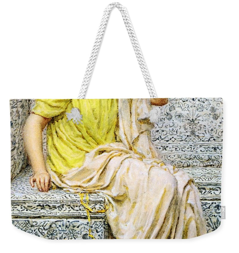 Albert Joseph Moore Weekender Tote Bag featuring the digital art Hairpins by Albert Joseph Moore
