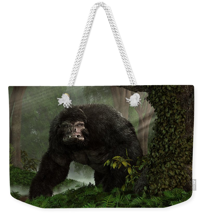 Hairy Beast Weekender Tote Bag featuring the digital art Hairy Beast by Daniel Eskridge