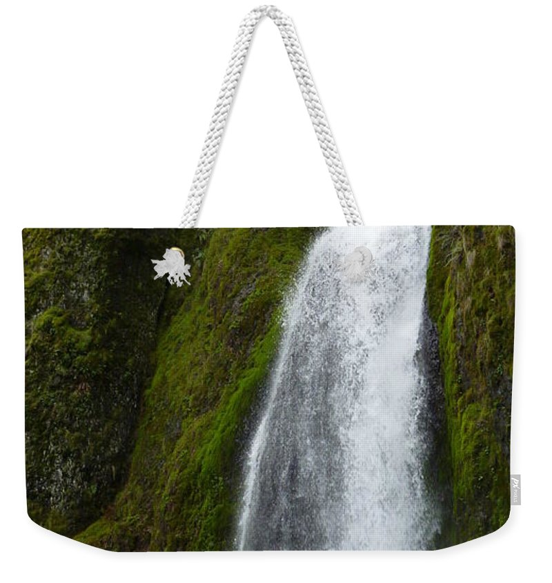 Water Fall Weekender Tote Bag featuring the photograph Hakeena Falls by Susan Garren