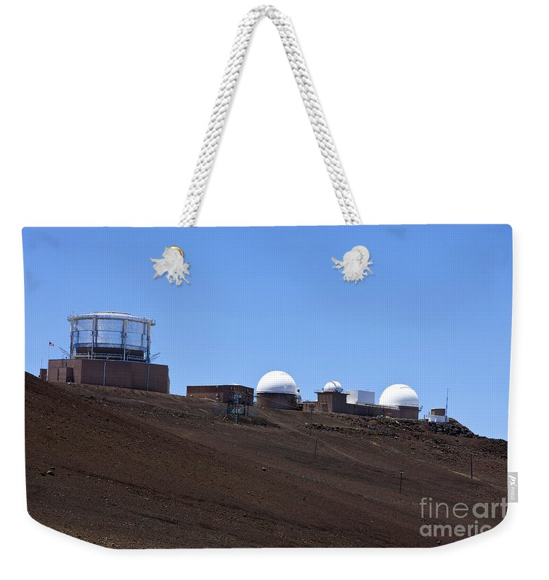 Haleakala Weekender Tote Bag featuring the photograph Haleakala Observatory Haleakala National Park by Jason O Watson