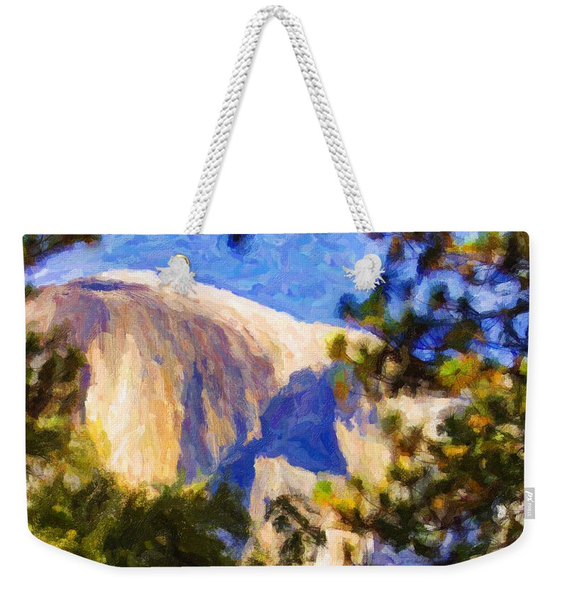 California Weekender Tote Bag featuring the digital art Half Dome Opus I by Zygmund Zee