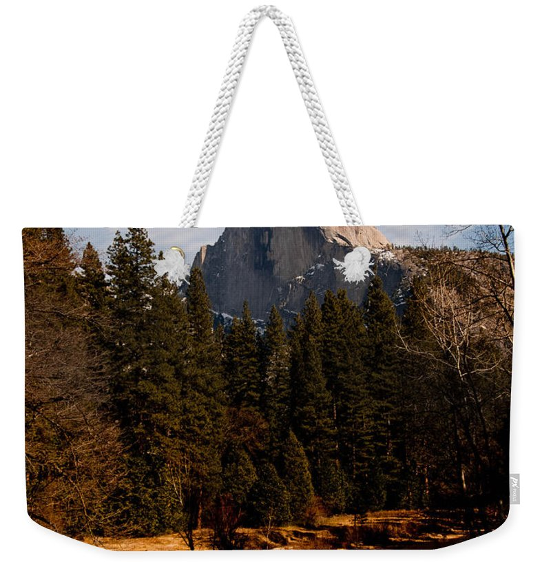 Yosemite Weekender Tote Bag featuring the photograph Half Dome Spring by Bill Gallagher