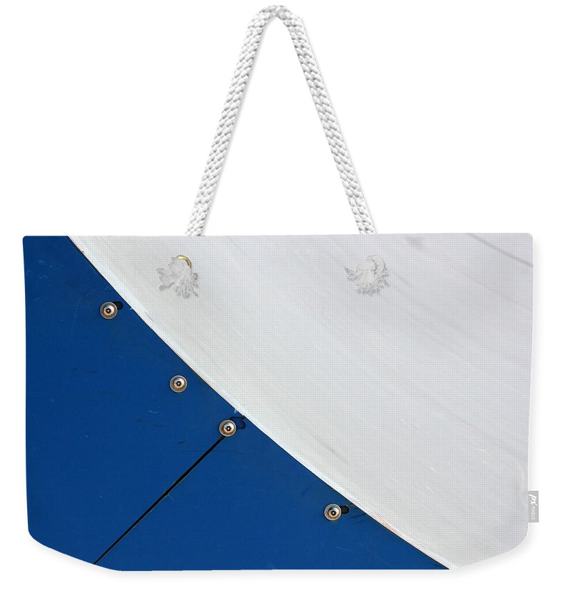 Half Pipe Weekender Tote Bag featuring the photograph Half Pipe Abstract 4 by Mary Bedy