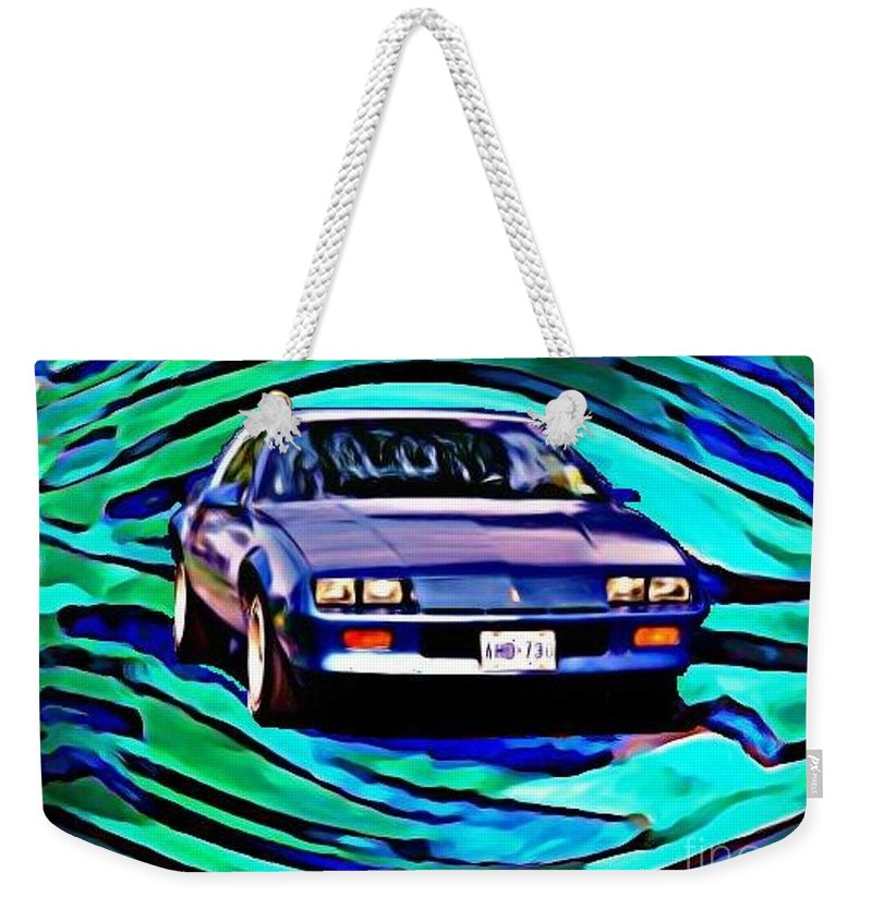 Car Weekender Tote Bag featuring the photograph Halifax Camero Icon by John Malone