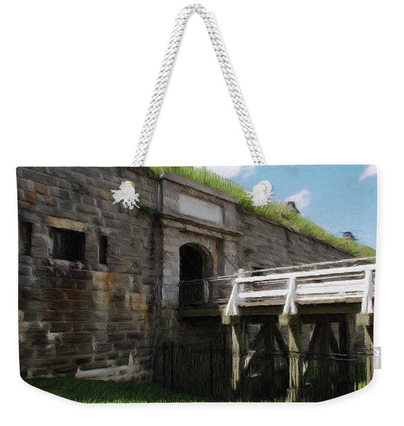 Canadian Weekender Tote Bag featuring the painting Halifax Citadel by Jeffrey Kolker