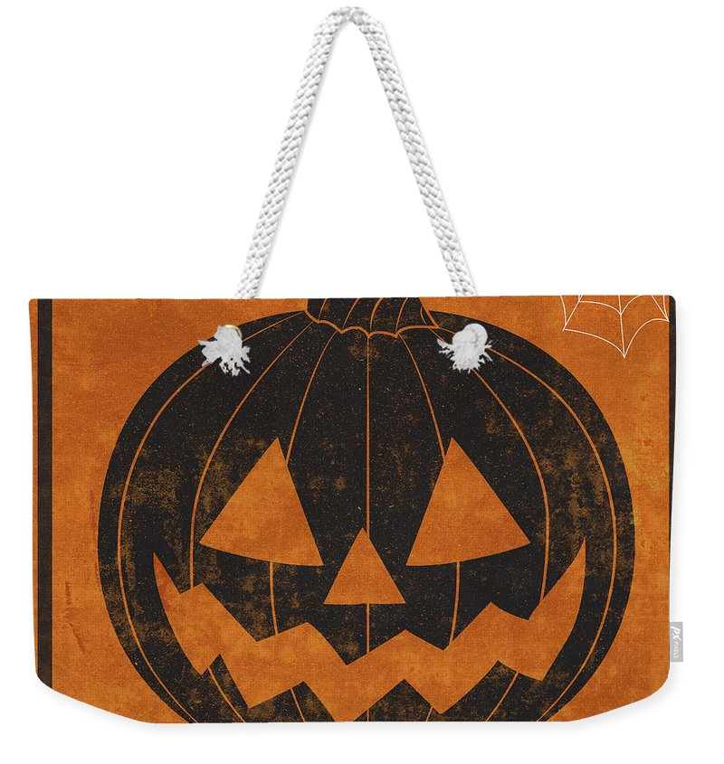 Hallows Weekender Tote Bag featuring the digital art Hallows Eve I by Sd Graphics Studio