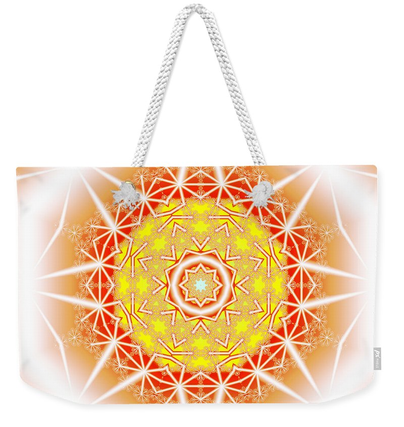 Ultra Fractal Weekender Tote Bag featuring the digital art Halo Of Life by Mario Carini