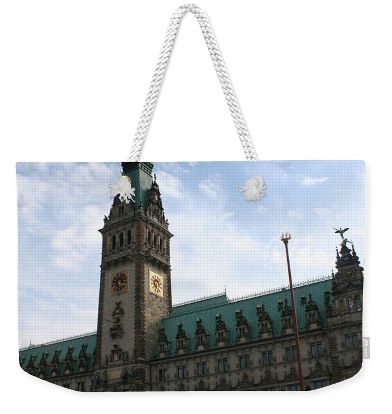 Hamburg Weekender Tote Bag featuring the photograph Hamburg - City Hall - Germany by Christiane Schulze Art And Photography