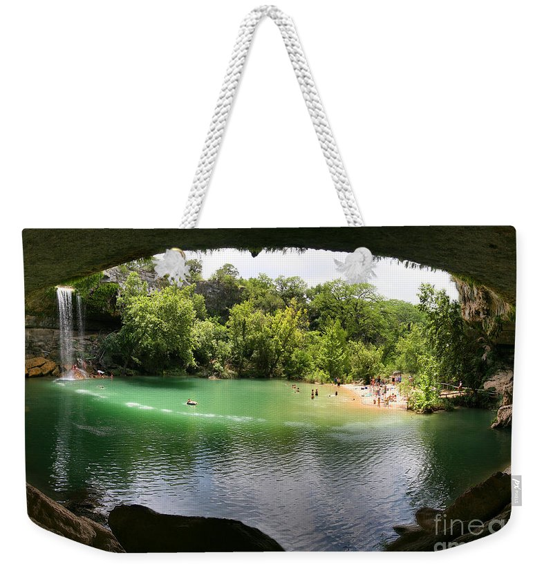 Hamilton Pool Weekender Tote Bag featuring the photograph Hamilton Pool Cave by Randy Smith