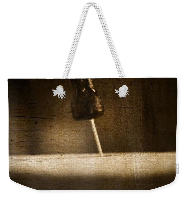 Hammer And A Nail Weekender Tote Bag featuring the photograph Hammer And A Nail by Dan Sproul