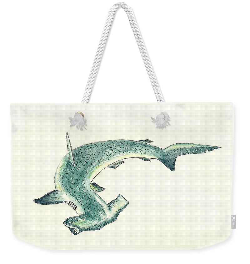 Hammerhead Shark Weekender Tote Bags
