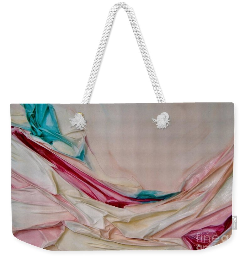 Abstract Weekender Tote Bag featuring the painting Hammock by Graciela Castro