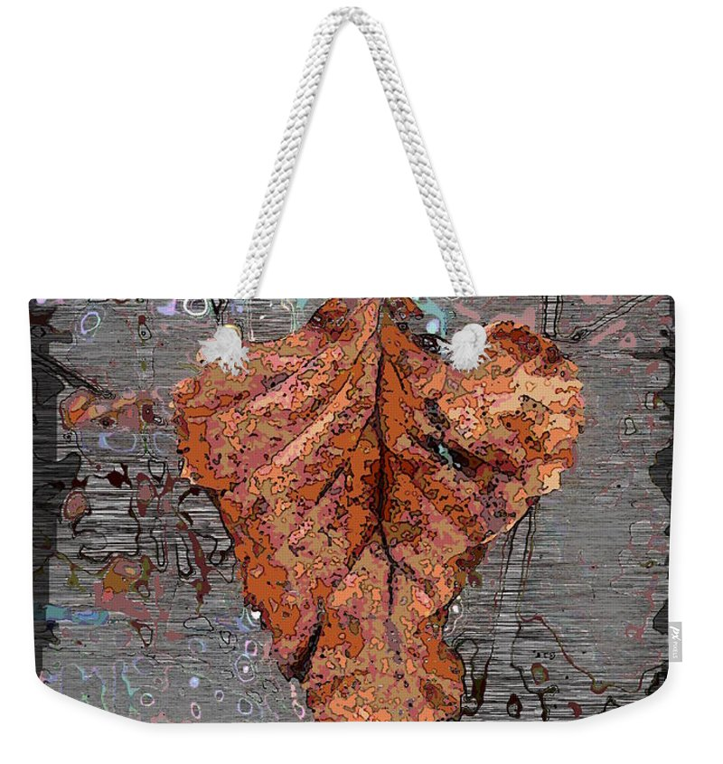 Leaf Weekender Tote Bag featuring the digital art Hangin In There by Tim Allen