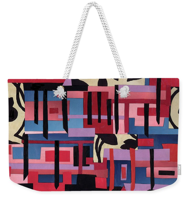 Collage Weekender Tote Bag featuring the mixed media Hanging Gardens by Mary Bedy