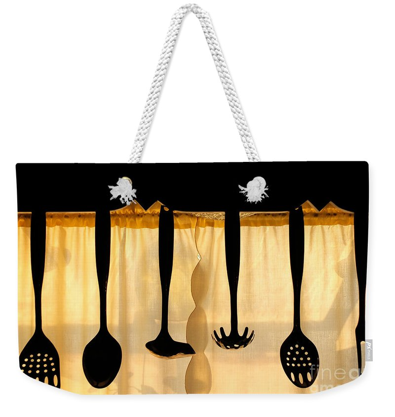 Utensils Weekender Tote Bag featuring the photograph Hanging Utensils 2 by Mike Nellums