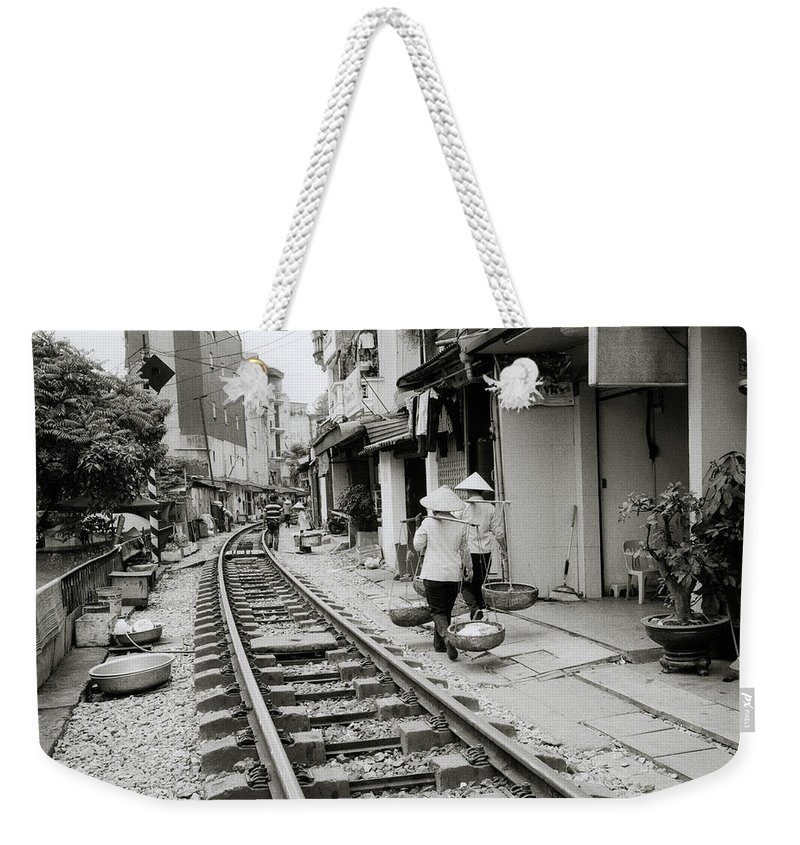 Asia Weekender Tote Bag featuring the photograph Hanoi Lifestyle by Shaun Higson