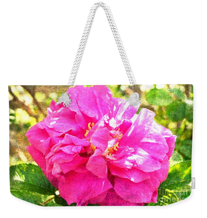Hansa Weekender Tote Bag featuring the photograph Hansa Overlay by Alys Caviness-Gober