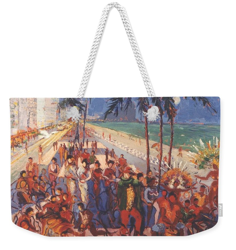 Rio De Janeiro Weekender Tote Bag featuring the painting Happening by Walter Casaravilla