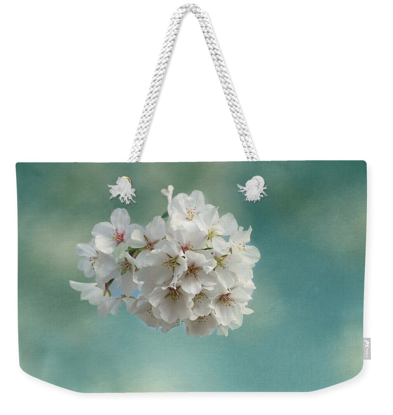 Cherry Blossom Weekender Tote Bag featuring the photograph Happiness Is by Kim Hojnacki