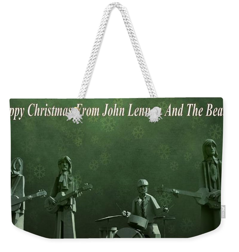 Happy Christmas From John Lennon Weekender Tote Bag featuring the photograph Happy Christmas From John Lennon by Dan Sproul