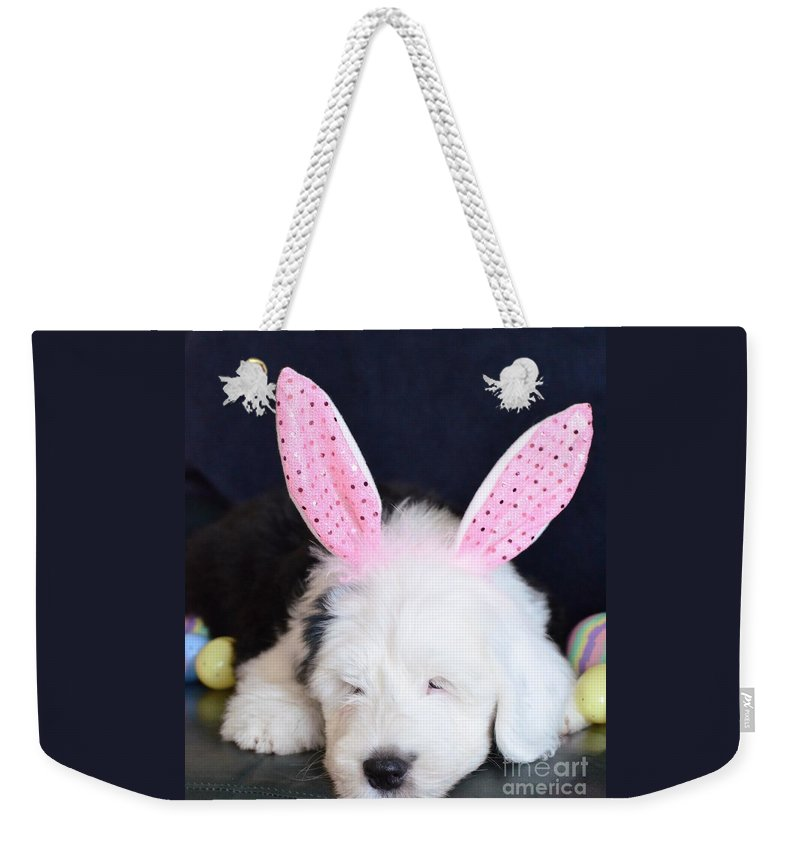 Old Weekender Tote Bag featuring the photograph Happy Easter by Kathleen Struckle