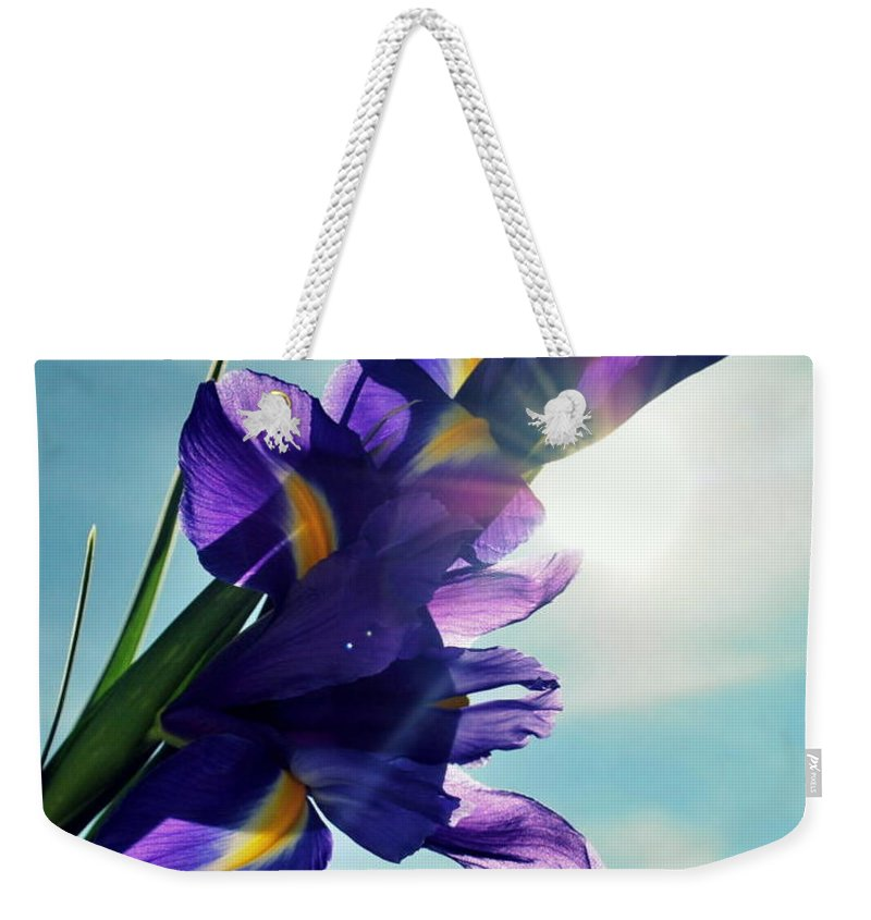 Flowers Weekender Tote Bag featuring the photograph Happy Easter by Marija Djedovic