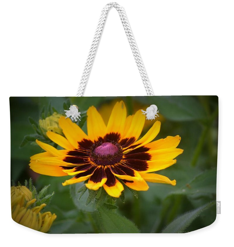 Flower Weekender Tote Bag featuring the photograph Happy Flower by Tara Potts