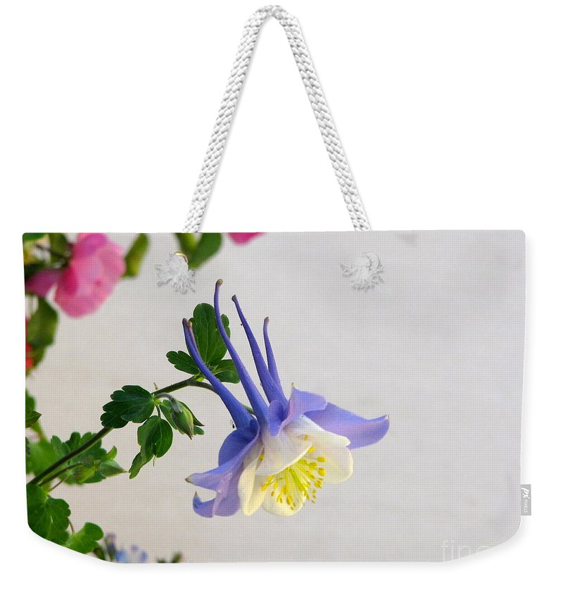 Columbine Weekender Tote Bag featuring the photograph Happy Little Columbine by Phyllis Kaltenbach