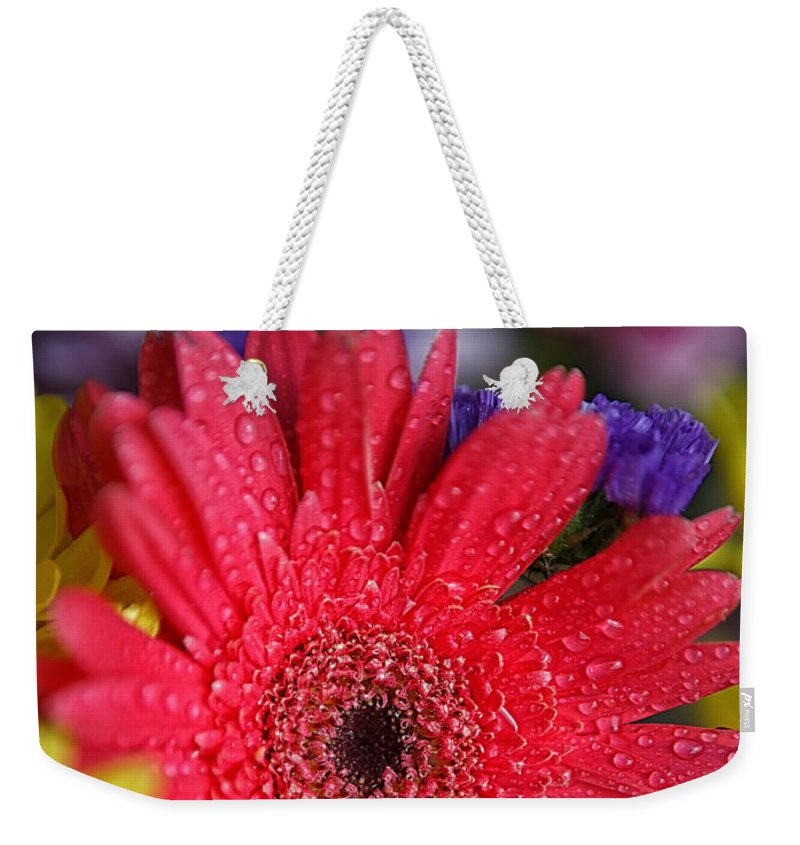Mother's Day Card Weekender Tote Bag featuring the photograph Happy Mother's Day by Erika Weber