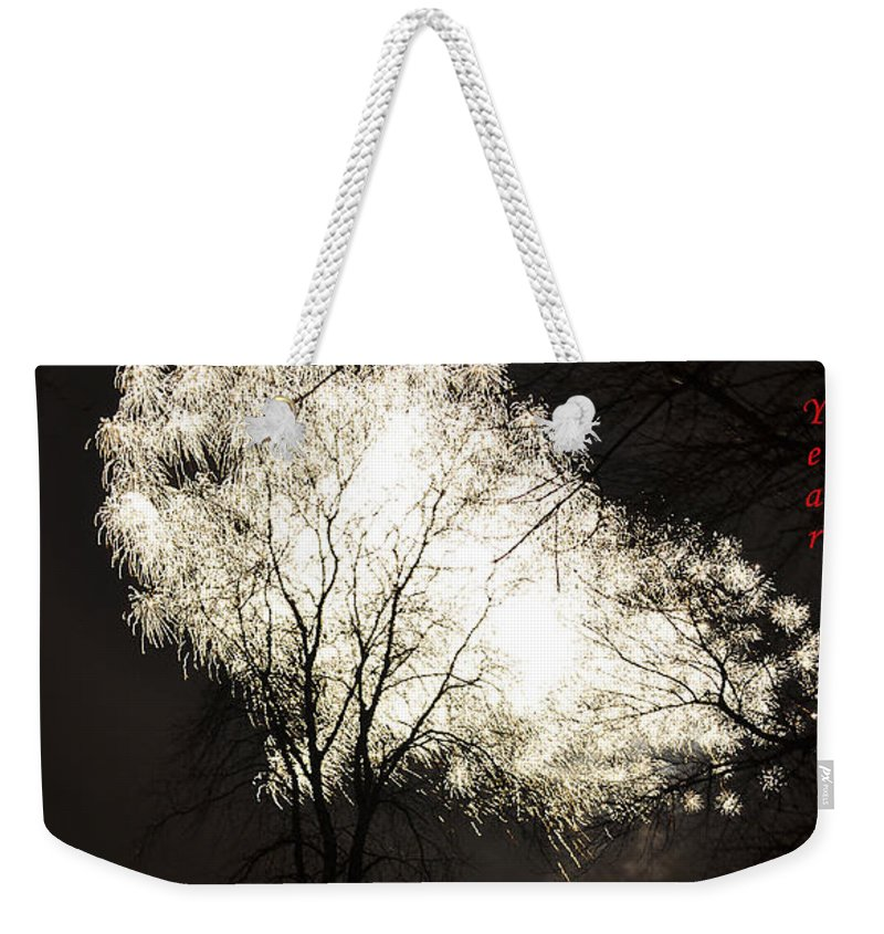 Fireworks Weekender Tote Bag featuring the photograph Happy New Year 2 by Verana Stark