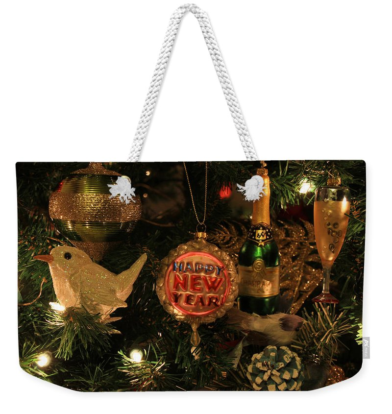 Happy New Year Weekender Tote Bag featuring the photograph Happy New Year by Donna Kennedy
