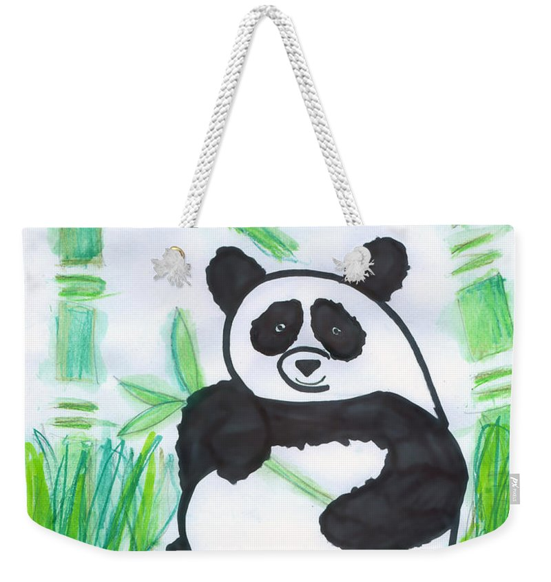 Giant Panda Weekender Tote Bag featuring the photograph Happy Panda O.o. by Ausra Huntington nee Paulauskaite