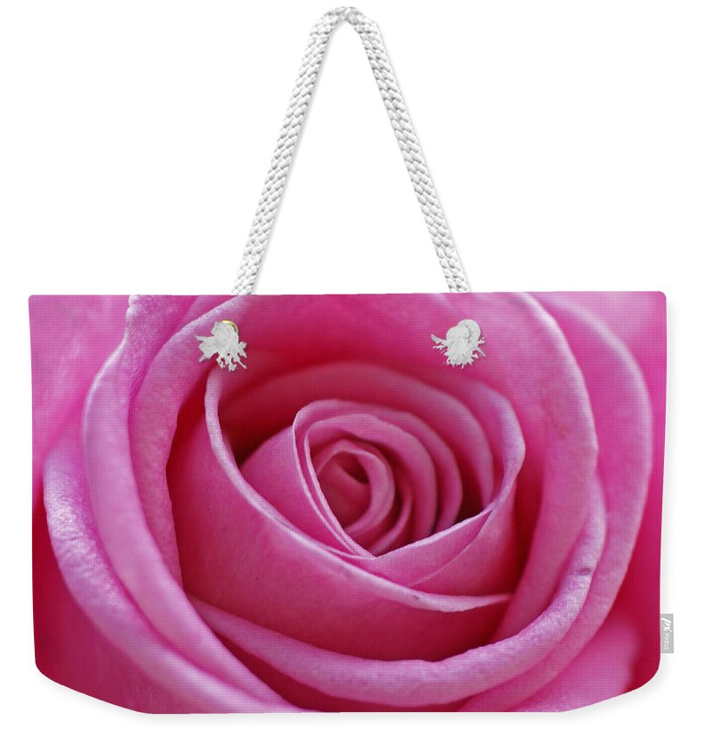 Pink Weekender Tote Bag featuring the photograph Happy Pink by Carol Lynch