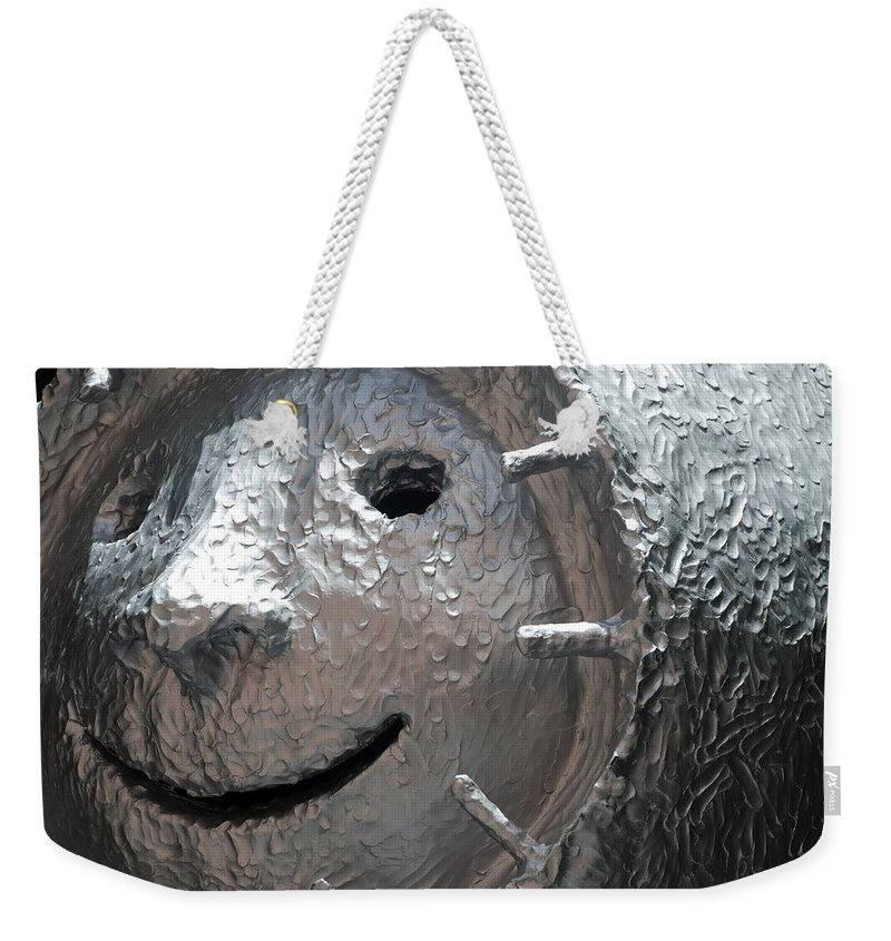 Sculptures Weekender Tote Bag featuring the photograph Happy Sculp Right by Rob Hans