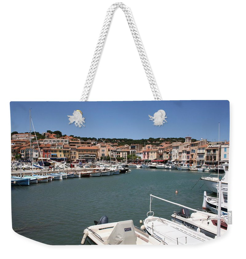 Harbor Weekender Tote Bag featuring the photograph Harbor Cassis by Christiane Schulze Art And Photography
